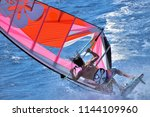 extreme windsurfing  the moment ...   Shutterstock . vector #1144109960