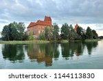 lithuania. trakai castle  in... | Shutterstock . vector #1144113830