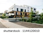 Modern townhouses in a...