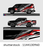 vehicle graphic kit. abstract... | Shutterstock .eps vector #1144130960