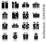 Gift Boxes   16 Icons ...