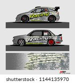 car livery graphic vector....   Shutterstock .eps vector #1144135970