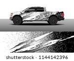 truck decal wrap design  car... | Shutterstock .eps vector #1144142396
