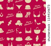 Seamless Pattern With Female...