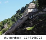 famous stony pyramid at ancient ... | Shutterstock . vector #1144148723