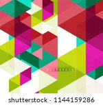 multicolored triangles abstract ... | Shutterstock .eps vector #1144159286