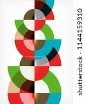 modern circle abstract... | Shutterstock .eps vector #1144159310