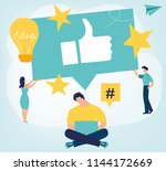 thumb up. best performance ... | Shutterstock .eps vector #1144172669