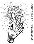 vector illustration.hand  magic ... | Shutterstock .eps vector #1144176800