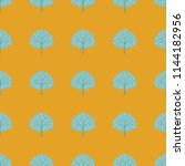 seamless pattern with trees on... | Shutterstock .eps vector #1144182956