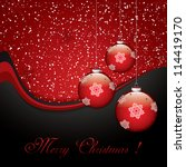 christmas background with... | Shutterstock .eps vector #114419170