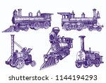 graphical color set of trains... | Shutterstock .eps vector #1144194293