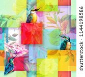floral seamless background... | Shutterstock .eps vector #1144198586