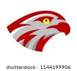 vector falcon or hawk head...   Shutterstock .eps vector #1144199906