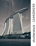 singapore   apr 5  marina bay...   Shutterstock . vector #1144204193