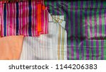 glossy fabric samples | Shutterstock . vector #1144206383