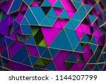 abstract 3d rendering of... | Shutterstock . vector #1144207799