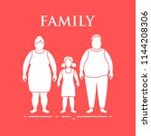 family. mom  dad and daughter.... | Shutterstock .eps vector #1144208306