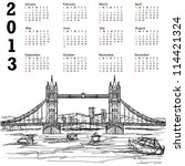 2013 Calendar With Hand Drawn...