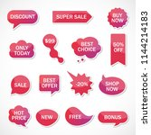 vector stickers  price tag ... | Shutterstock .eps vector #1144214183