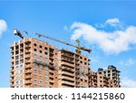 construction. a building is... | Shutterstock . vector #1144215860
