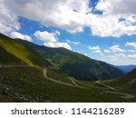 transfagarasan  road at high... | Shutterstock . vector #1144216289