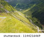 transfagarasn road in the... | Shutterstock . vector #1144216469