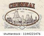 chennai skyline  india  in a... | Shutterstock .eps vector #1144221476