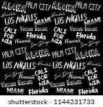 city slogan graphic | Shutterstock . vector #1144231733