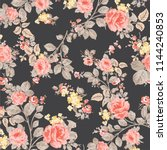 floral pattern design  vector... | Shutterstock .eps vector #1144240853