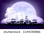 mid autumn festival. background ... | Shutterstock .eps vector #1144240886