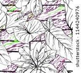 tropical  stripe  animal motif. ... | Shutterstock .eps vector #1144240976