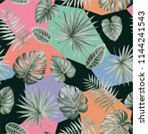 tropical seamless pattern with... | Shutterstock .eps vector #1144241543