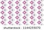 ikat geometric folklore... | Shutterstock .eps vector #1144255070