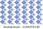 ikat geometric folklore...   Shutterstock .eps vector #1144255130