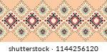 ikat geometric folklore...   Shutterstock .eps vector #1144256120