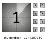 old vintage film countdown... | Shutterstock .eps vector #1144257350