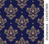 seamless golden ornamental... | Shutterstock .eps vector #1144257800