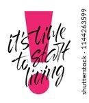 handwritten slogan it's time to ... | Shutterstock .eps vector #1144263599