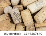 close up of heap of wine corks | Shutterstock . vector #1144267640