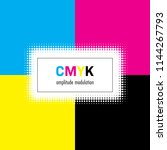 abstract background in cmyk... | Shutterstock . vector #1144267793