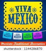 viva mexico  mexican holiday... | Shutterstock .eps vector #1144286870