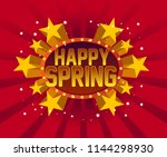 happy spring  beautiful... | Shutterstock .eps vector #1144298930