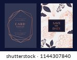 wedding invitation  floral... | Shutterstock .eps vector #1144307840