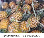 pineapple fruit texture... | Shutterstock . vector #1144310273