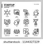 startup icon set | Shutterstock .eps vector #1144327229
