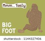 Stock vector bigfoot lifeday illustration vector 1144327406
