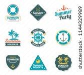 summer retro vector logo for...   Shutterstock .eps vector #1144329989