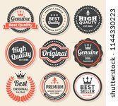 vintage retro vector logo for... | Shutterstock .eps vector #1144330223