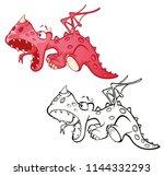 vector illustration of a cute...   Shutterstock .eps vector #1144332293